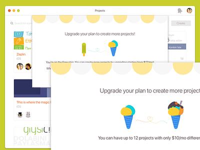 Zeplin's upgrade flow upgrade zeplin illustration app macos ui