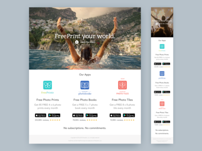 FreePrint Your World Landing Page