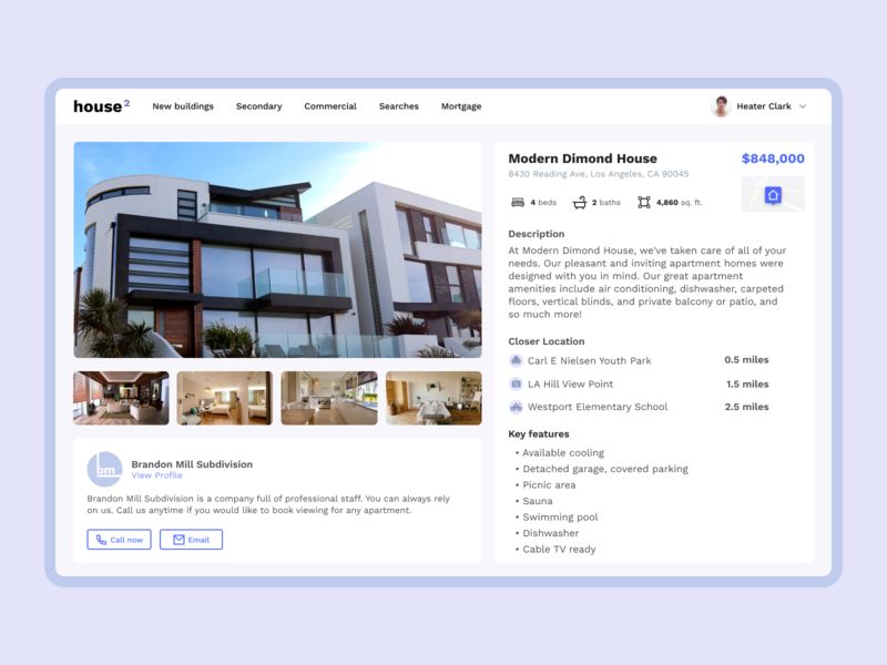 Real Estate IDX Platform apartments ux ui house dashboard web app filters listing property search real estate search real estate analytics