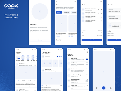 COAX Mobile Design System - Part 3 interface ui mobile app design mobile ui mobile app ux design system mobile