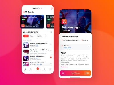 Tempo - mobile app that helps to browse events and buy tickets mobile mobile design mobile ui mobile app development mobile apps tickets events app mobile application events mobile app design mobile app