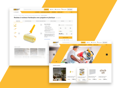 E-commerce portal for French market. shop category product page store construction portal ecommerce