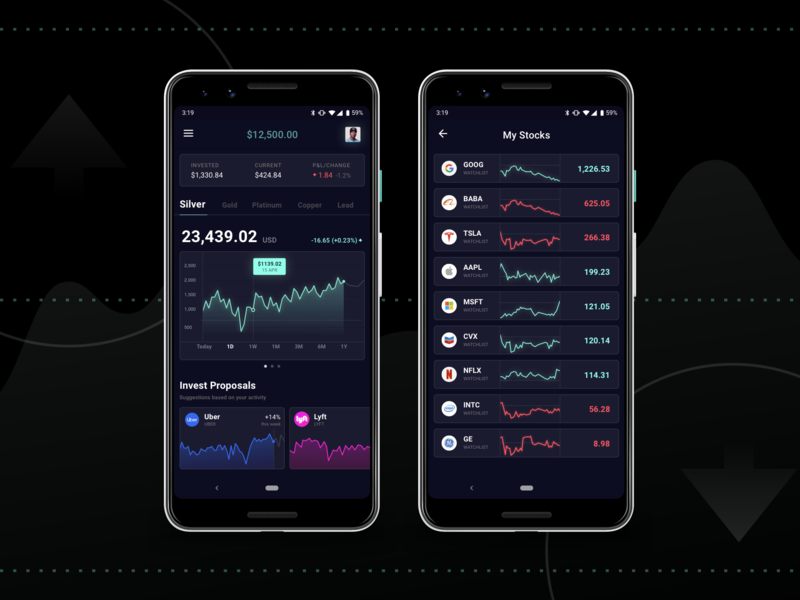 Investment Application Prototype invest  investment investmeny app ranking wallet money interface interaction informational graphic financial startup business analytics chart bank statistics finance dashboard ui dashboard fintech financial app