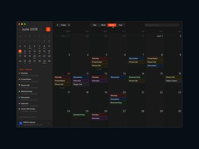 Dark Mode Schedule Application timeline task app pm project management tool dark mode schedule meeting planning timetable dashboad reminder calendar