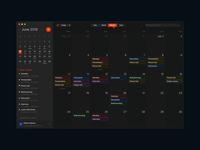 Dark Mode Schedule Application