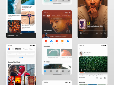 Youku V4.0 's interaction iphone user experience user interface youku ux video gif flat design flat timeline app mobile product design ios13