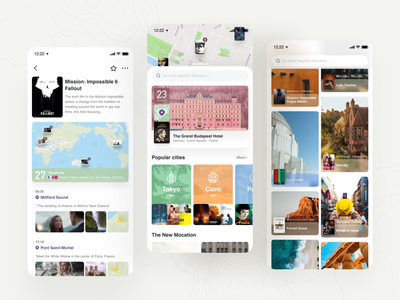 Mocation mocation film maps map design flat user experience user interface ux