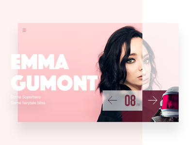 Super hero color emma author card clean interface love quote translate typography ui widget