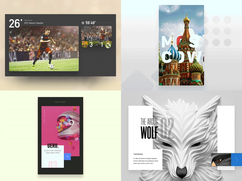 Top 4 of 2018 experience game soccer interface football design user interface iphone user experience gif flat flat design video ux
