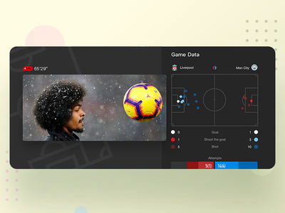 PPS Player 's Data iphonex live football app soccer player suning iphone user experience user interface video picture