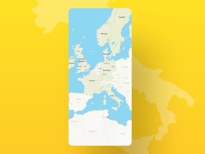 Footprint on the map mafengwo pin map travel iphone flat design user experience user interface video ux