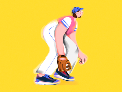 S.(Baseball girl) shoes illustrator sports character vector girl design draw illustration