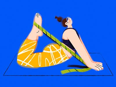 U.(Yoga girl) yoga illustrator sports character vector girl design draw illustration