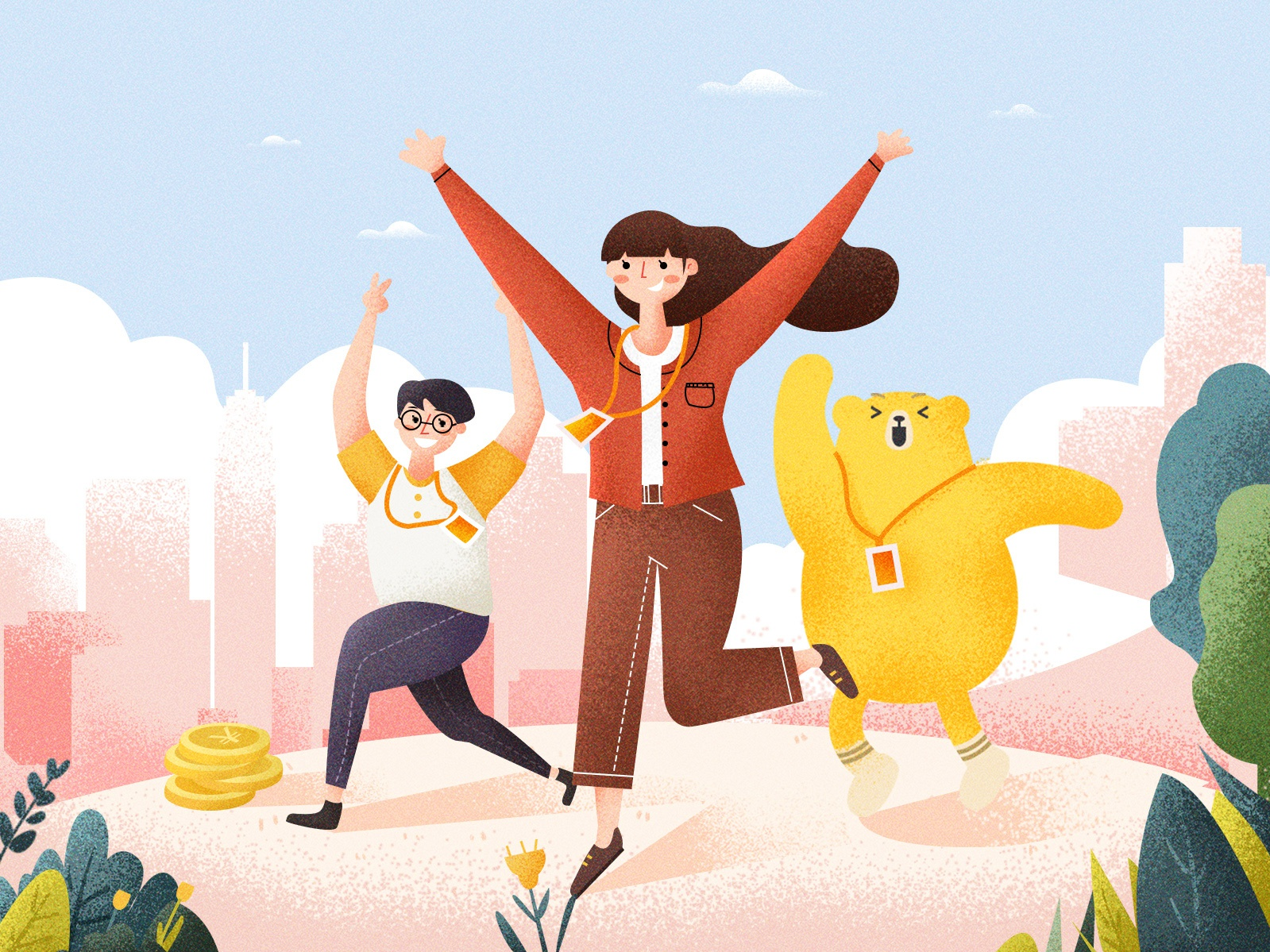 join us! bear draw web website join us company illustration design ui branding