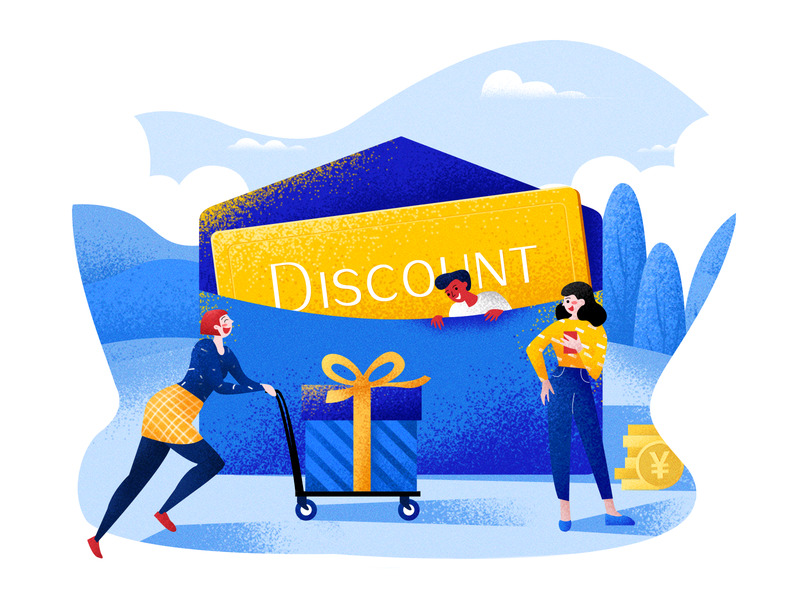 Discount card ! typography draw ui illustration design branding
