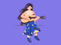 Guitar girl!