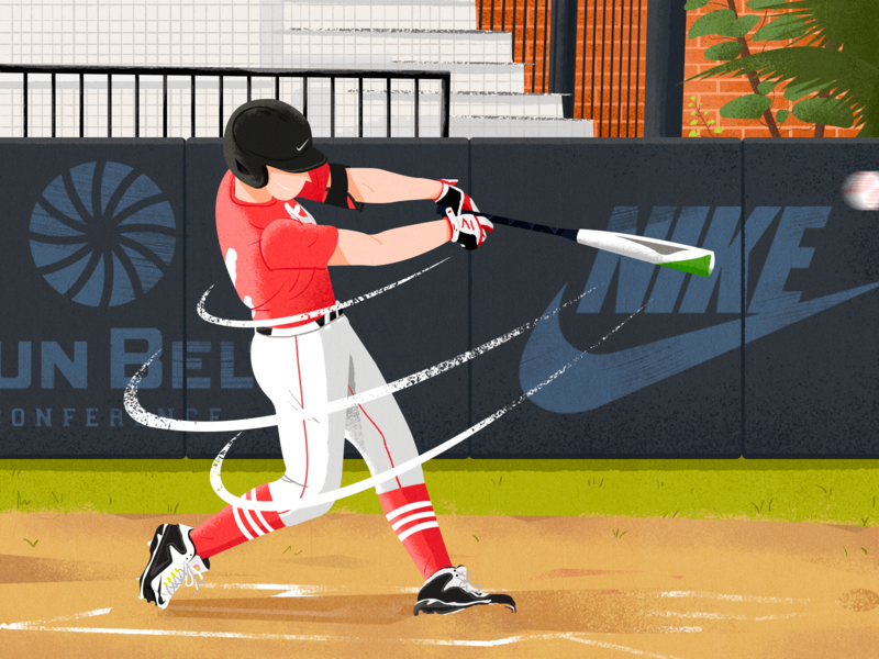 Baseball player baseball olympic games illustration draw olympic