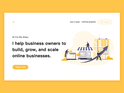 Build  Grow  Scale business people building computer online business online scale business characterdesign website draw design illustration