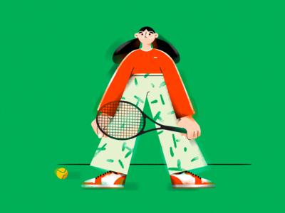 A. (Tennis girl)