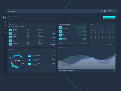 Dashboard UI dashboad design clean uxui dailyui adobe xd darkmode