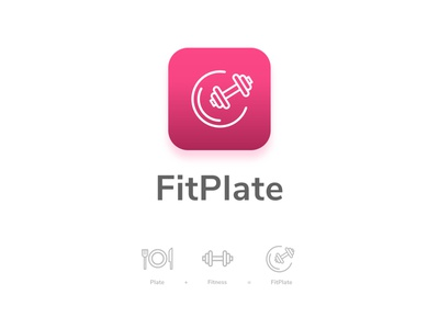 FitPlate - Track your calories fitness logo fitness logodesign icon clean design branding logo ui dailyui