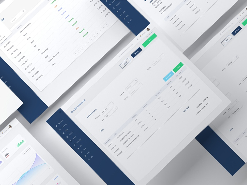 ERP App Design wireframe adobexd inventory store ecommerce prototyping uidesign uiux dashboard clean erp ui complex