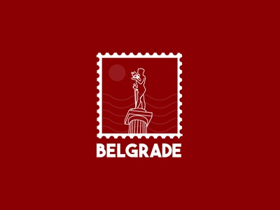 Belgrade Sticker illustrator weekly warmup weekly challenge vector sticker hometown branding