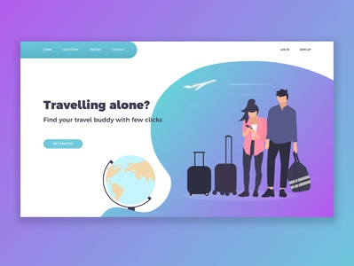 TravelBuddy Landing Page Concept