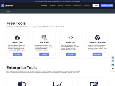 Chinafy Marketing Page - Tools