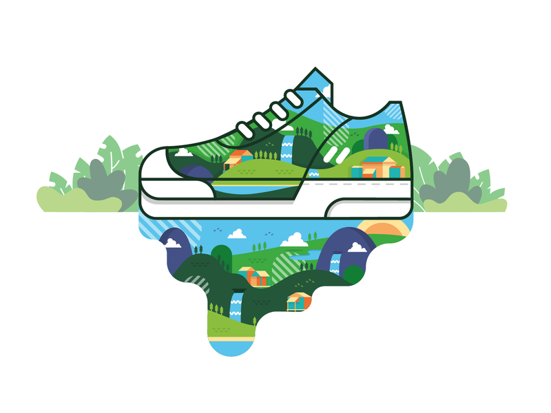 Air-Force Daylight shoes sneaker design vector illustration