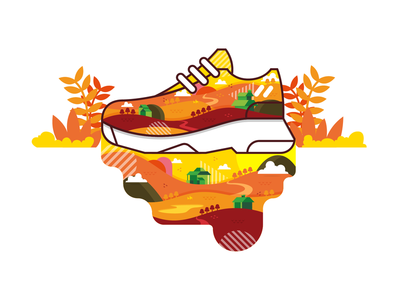 A-Max Fall shoes sneaker design vector illustration