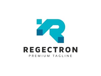 Regectron - R Letter Logo