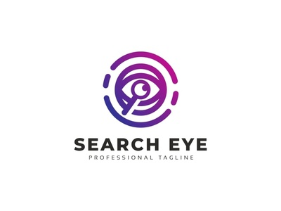 Search Eye Logo style spy searching search magnifying looking look logotype logo internet glass eye detective design concept camera abstract corporate creative business