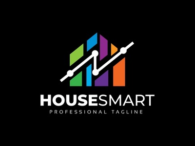 House Tech Logo property mobile mansion it innovation hut house plan house home flat engineering electronic digital creativity computer chip building applications app apartment