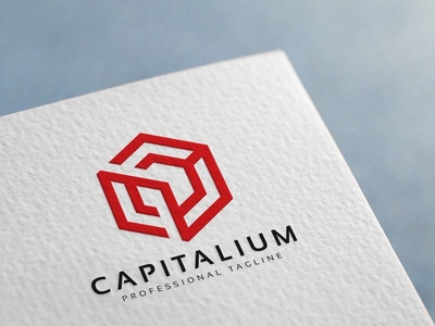 Capital Cube Logo hexagon geometric finance development data cube crypto currency core connection communication capital c letter c box blockchain arrow architecture advance
