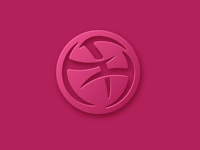 dribbble logo modern corporate vector abstract business illustration branding creative logo dribbble