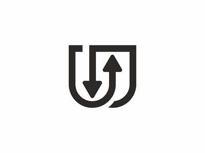 U And U Arrows Logo progress professional modern mockup marketing management line letter law elegant economic creative corporate connect communication business arrow administrate abstract 3d