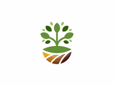 Farm Logo leaf land hydroponic harvest grow green grass garden fruit food farming farmer farm earth clean botanic barn agriculture brand