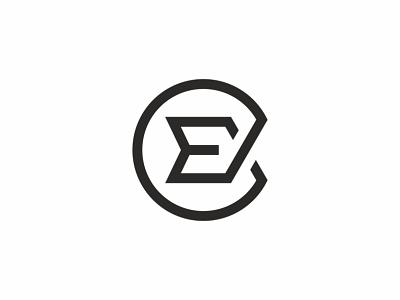 E Monogram Logo programming software professional modern minimalist minimal letter element elegant curve corporation company brand clean branding bold blue e event