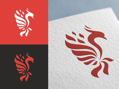Phoenix Logo rebirth phoenix logo phoenix orange mythology modern majestic luxurious logo immortality freedom fly flow flat fire corporate branding brand bird logo bird
