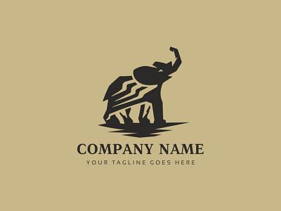 Black Elephant  Logo african animals african elephant animals creative corporate media brand branding