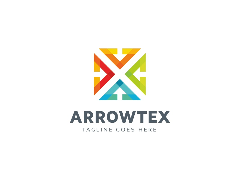 Arrow Technology Logo global gaming game development design data consultancy colorful color business arrow abstract