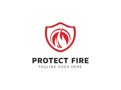 Shield Protect Fire Logo