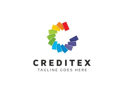 Credit C Letter Logo hexagon gaming expetise entertainment engineer cubical cubic cube creative corporate core consultant computer center c logo c letter c business brand box