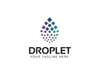 Droplet Pixel Logo Template