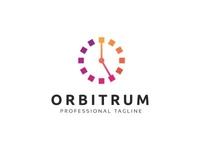 Orbitrum O Letter Logo