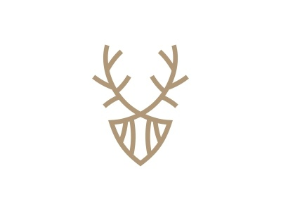 Forest Deer Logo hunter hunt handwork forest food deer head deer company classic chic chevreuil chase business brewing branding brand beer artisanal animals animal