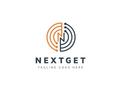 Nextget N Letter Logo n multimedia media marketing letter hexagonal hexagon digital data cubical cubic cube creativity creative corporate core connect communication business abstract