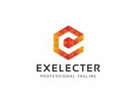 Exelecter - Hexagon E Letter Logo