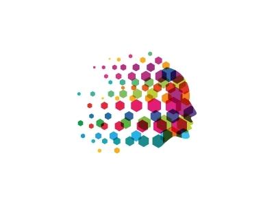 Human Tech Logo mechanic man machine logo concept it isolated invention intelligence innovation industrial illustration idea icon head gears gear engineering design concept brain